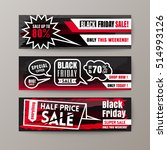 black friday sale web banners | Shutterstock .eps vector #514993126