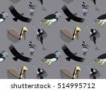 random south american birds... | Shutterstock .eps vector #514995712