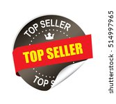 top seller black sticker ... | Shutterstock . vector #514997965