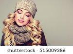 trendy warm winter   beautiful  ... | Shutterstock . vector #515009386