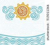 sea and sun. vector... | Shutterstock .eps vector #515011366