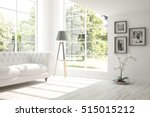 white room with sofa.... | Shutterstock . vector #515015212