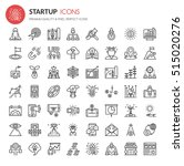 startup element icons   thin... | Shutterstock .eps vector #515020276