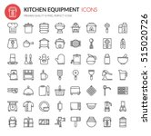 kitchen equipment icons   thin... | Shutterstock .eps vector #515020726