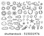 weather symbols | Shutterstock .eps vector #515031976