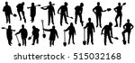 people with shovel silhouettes | Shutterstock .eps vector #515032168