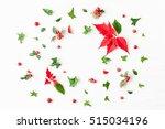 Christmas Poinsettia. Frame...