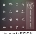 business management icon set... | Shutterstock .eps vector #515038936