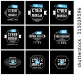 cyber monday sale label set | Shutterstock .eps vector #515039596