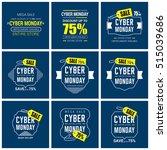 cyber monday sale label set | Shutterstock .eps vector #515039686