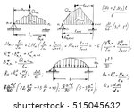 physical equations on... | Shutterstock .eps vector #515045632