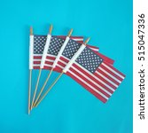 Small photo of USA flag. American flag. American flag on blue background.