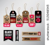 black friday sale tag ribbon... | Shutterstock .eps vector #515048545