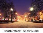 night winter landscape in... | Shutterstock . vector #515049808