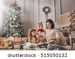 merry christmas and happy... | Shutterstock . vector #515050132
