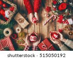merry christmas and happy... | Shutterstock . vector #515050192
