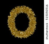 letter o made from gold... | Shutterstock . vector #515050516