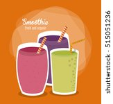 smoothie drink glass design | Shutterstock .eps vector #515051236