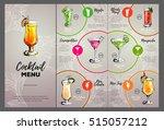 cocktail menu design | Shutterstock .eps vector #515057212