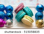 macaroons and cookies in the... | Shutterstock . vector #515058835