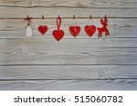 red hearts  and christmas... | Shutterstock . vector #515060782