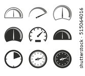 Speedometer Vector Icons Set....
