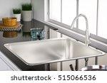 3d rendering kitchen sink and... | Shutterstock . vector #515066536