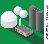 biogas plant isometric vector... | Shutterstock .eps vector #515072638