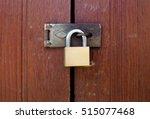 Vintage Locked Padlock With...