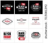 black friday sale label set | Shutterstock .eps vector #515081392