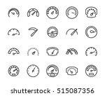 set of speedometer icons in... | Shutterstock .eps vector #515087356