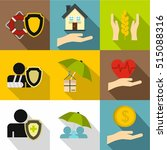 medical care icons set. flat... | Shutterstock .eps vector #515088316