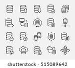 set of database icons in modern ... | Shutterstock .eps vector #515089642