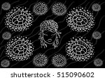 seamless circle pattern. arabic ... | Shutterstock .eps vector #515090602