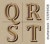 western alphabet design letters ... | Shutterstock .eps vector #515093428