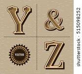 western alphabet design letters ... | Shutterstock .eps vector #515098252