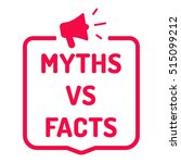 myths vs facts. badge with...