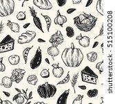 kitchen seamless pattern.... | Shutterstock .eps vector #515100208