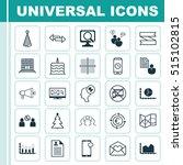 set of 25 universal editable... | Shutterstock .eps vector #515102815