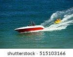 Water Amusement On Banana Boat...