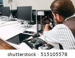 broken computer disassembling ... | Shutterstock . vector #515105578
