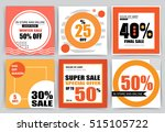 sale banner templates  posters  ... | Shutterstock .eps vector #515105722