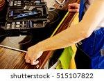 young repair man measuring... | Shutterstock . vector #515107822