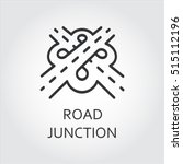 label of road junction  icon in ...   Shutterstock .eps vector #515112196