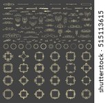 vintage decor elements and... | Shutterstock .eps vector #515113615