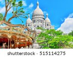 sacre coeur cathedral on... | Shutterstock . vector #515114275