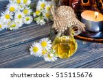 chamomile flowers oil in a... | Shutterstock . vector #515115676