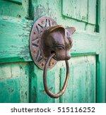 Doorknocker With Head Of Cat