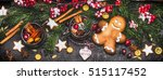 christmas banner with... | Shutterstock . vector #515117452