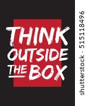 think outside the box  poster.... | Shutterstock .eps vector #515118496